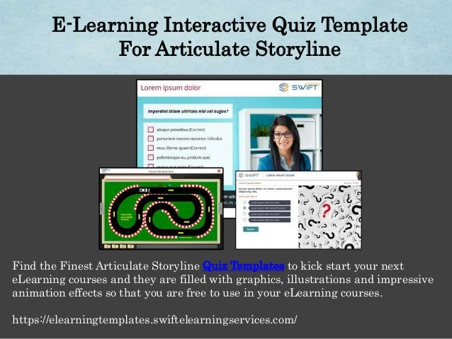 E learning interactive quiz template for articulate storyline