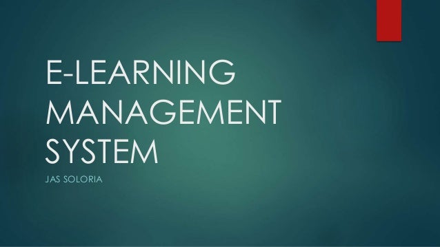 E-LEARNING MANAGEMENT SYSTEM JAS SOLORIA