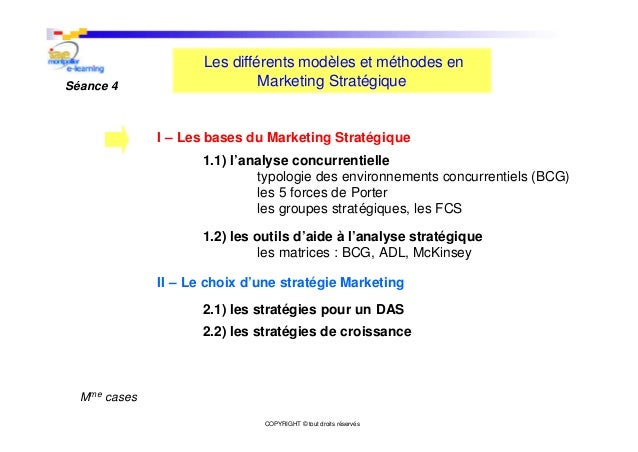 E learning marketing strat gique - Analyse concurrentielle porter ...