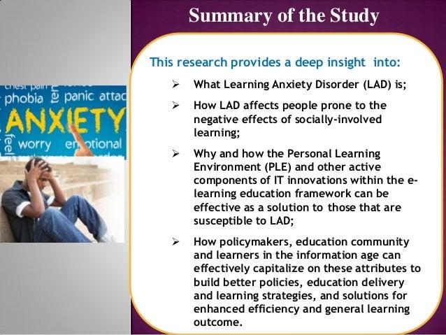 E learning potency in addressing lad Slide 3
