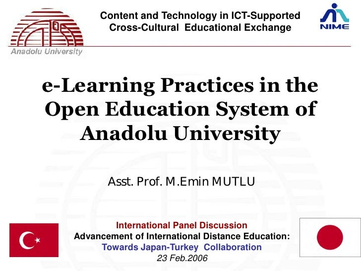 Content and Technology in ICT-Supported         Cross-Cultural Educational Exchangee-Learning Practices in theOpen Educati...