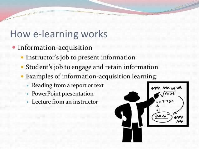 E learning proposal