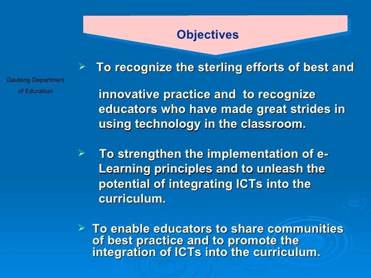 Innovative Classroom Practices Using Ict In England : E learning showcas presentation