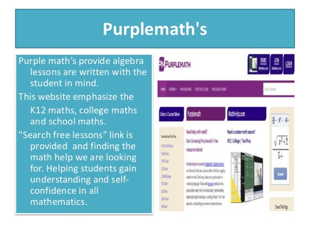 e learning strategies mathematics teaching amp learning 5 purplemath s purple math s