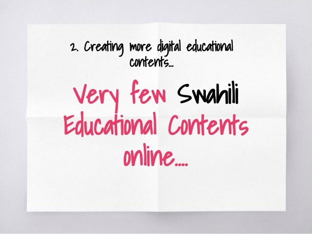 E learning tanzania 13 very few swahili m4hsunfo