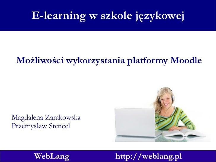 E Learning W Szkole Językowej - Kraków 6.03.2010