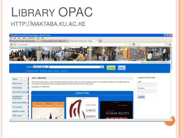e-library at the Kenyatta University