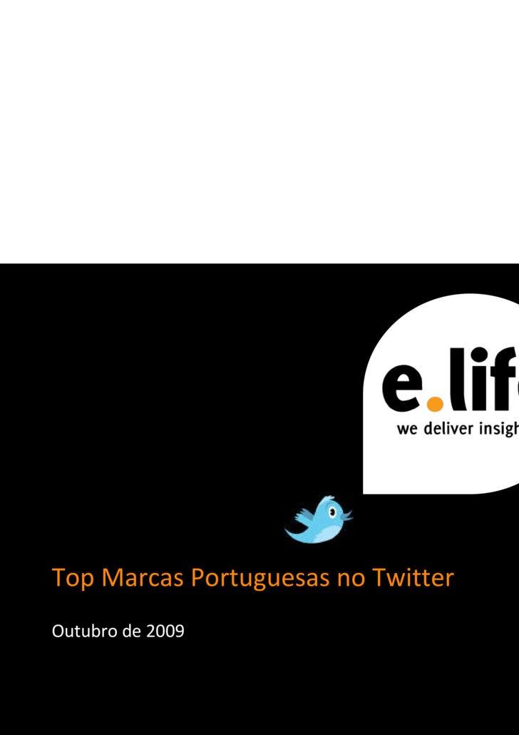 Top Marcas Portuguesas no Twitter Outubro de 2009