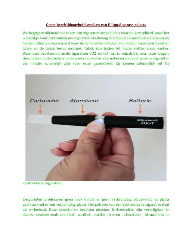 Grote beschikbaarheid smaken van E-liquid voor e-rokers We begrijpen allemaal dat roken van sigaretten schadelijk is voor ...