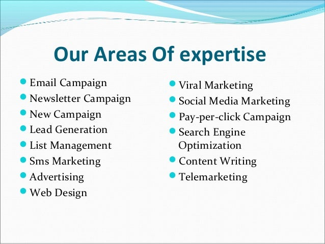 Beautiful ... 3. Our Areas Of Expertise ... Regarding Areas Of Expertise List
