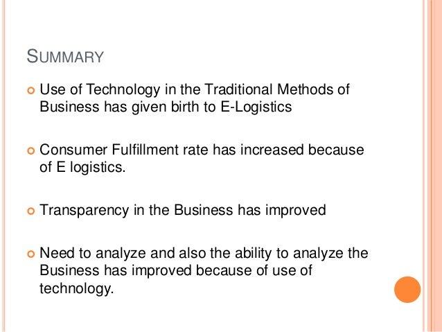 e logistics in e commerce