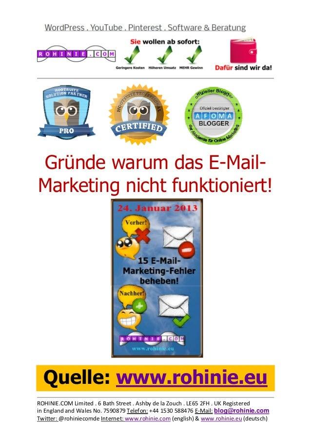 Gründe warum das E-Mail-Marke...