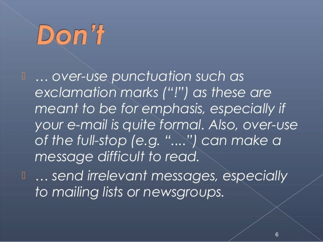 dont do list in e mail Email management has become a perennial to-do on our list, which   processing email is a component of our work, but if we don't watch it,.