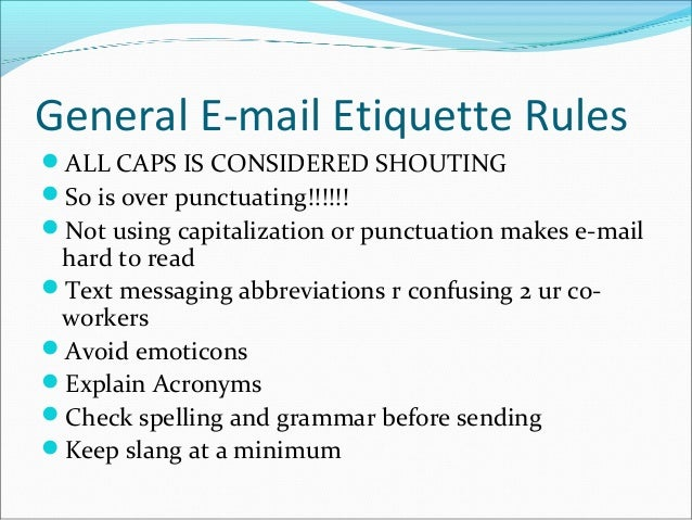 E mail etiquette-1 For Students who are in Sem III... Useful for Busi…