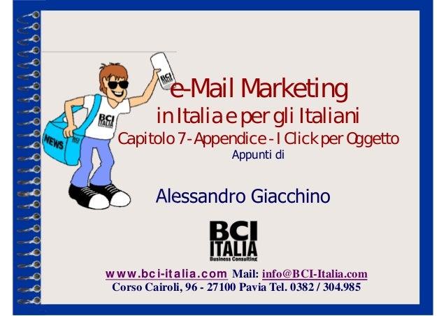 www.bci-italia.com Mail: info@BCI-Italia.com Corso Cairoli, 96 - 27100 Pavia Tel. 0382 / 304.985 Alessandro Giacchino e-Ma...