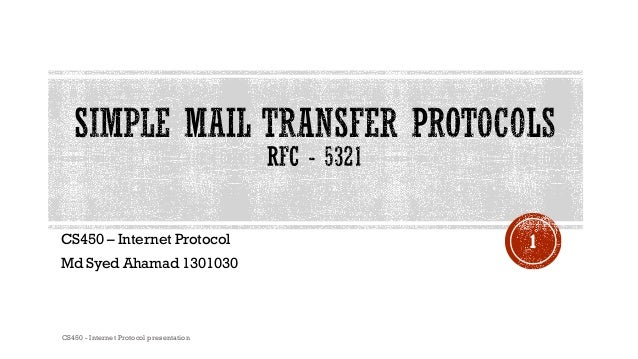 E mail protocol - SMTP