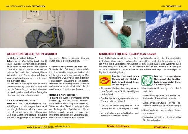 e-Marke Elektroinstallation Ratgeber für Konsumenten Slide 2