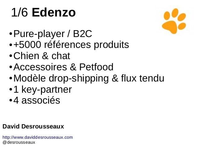 1/6 Edenzo ● Pure-player / B2C ● +5000 références produits ● Chien & chat ● Accessoires & Petfood ● Modèle drop-shipping &...