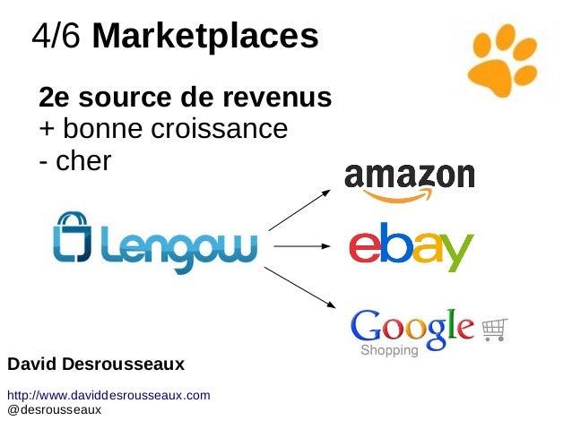 4/6 Marketplaces 2e source de revenus + bonne croissance - cher David Desrousseaux http://www.daviddesrousseaux.com @desro...