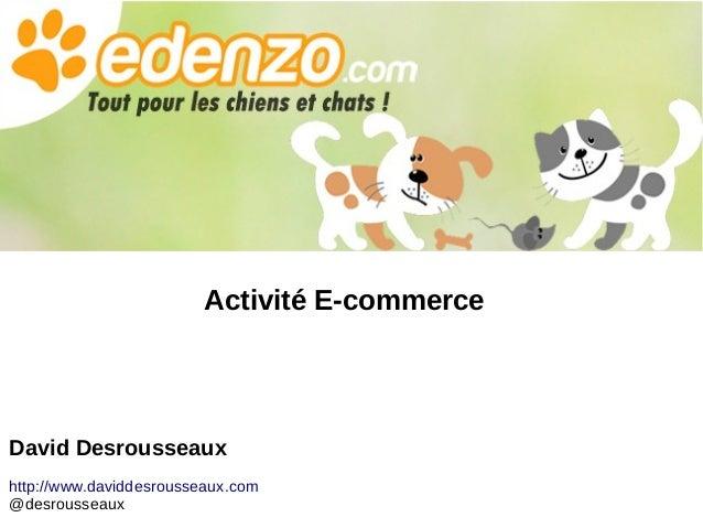 Activité E-commerce David Desrousseaux http://www.daviddesrousseaux.com @desrousseaux
