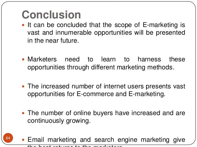 conclusion for marketing The dominating and unethical character of alcohol marketing of these  that is  one of the main conclusions of a new report published by the.