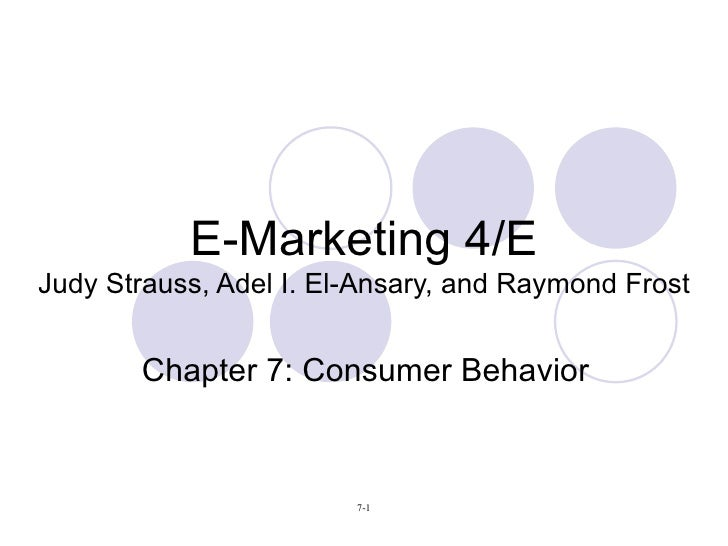 E-Marketing 4/E Judy Strauss, Adel I. El-Ansary, and Raymond Frost Chapter 7: Consumer Behavior