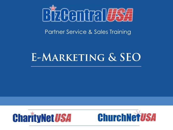 Partner Service & Sales Training<br />E-Marketing & SEO<br />