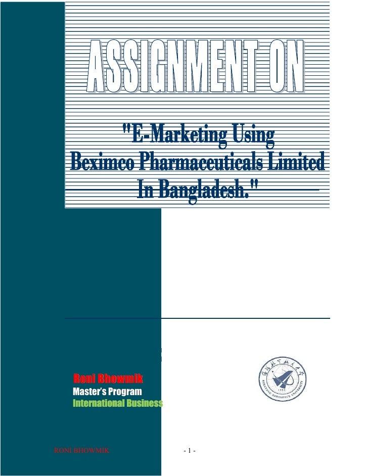 Roni Bhowmik    Master''s Program    Master    International BusinessRONI BHOWMIK                 -1-