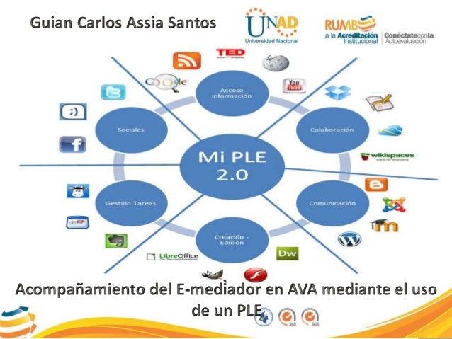 El acompañamiento tutorial de un E-mediador en AVA mediante el uso  de un PLE debe:  • Ser constante, utilizando las redes...