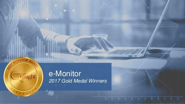 e-Monitor 2017 Gold Medal Winners