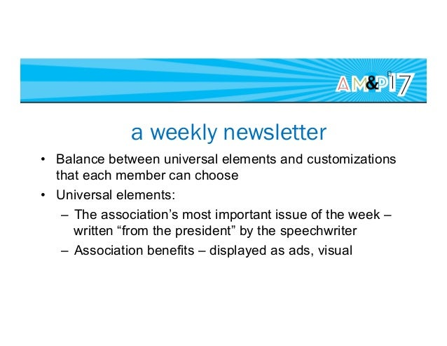Customization options • Topics – matched the legacy newsletter • Integrated with our legacy database • What if someone ...
