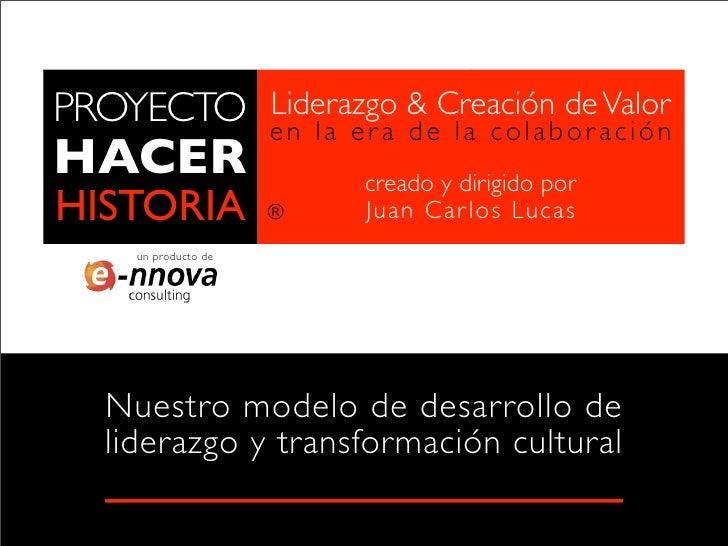 PROYECTO             Liderazgo & Creación de Valor                     en la era de la colaboraciónHACER                  ...
