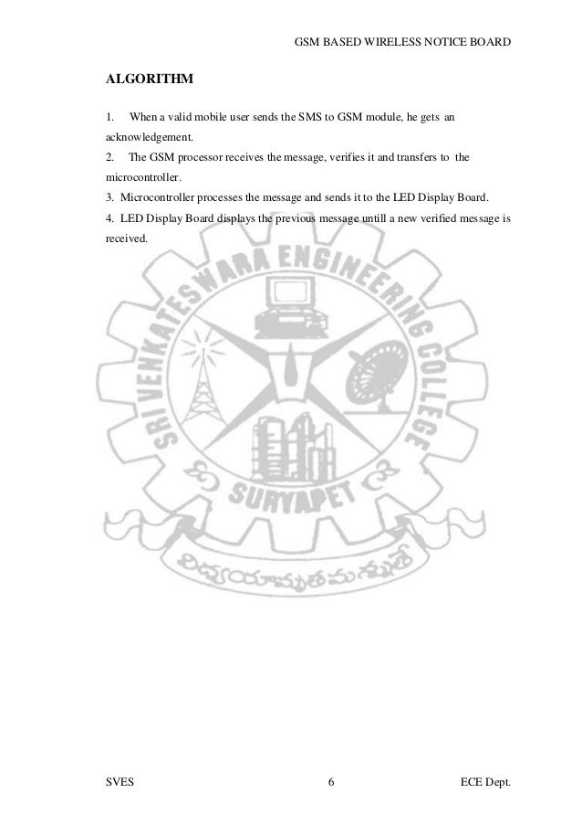 Main project report on GSM BASED WIRELESS NOTICE BOARD