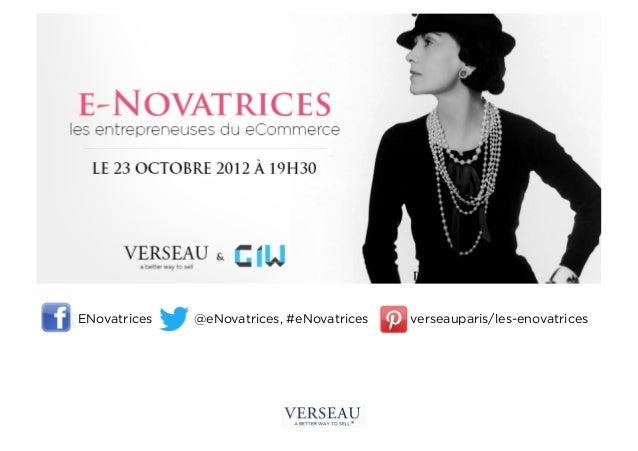 ENovatrices   @eNovatrices, #eNovatrices   verseauparis/les-enovatrices