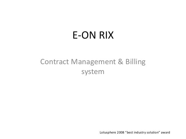 Contract Management System : E on rix contract management system basic structure