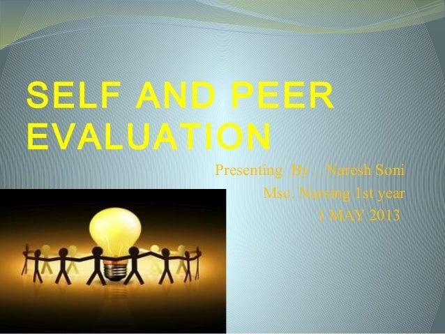 self and peer  evaluation