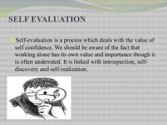 Self And Peer. Evaluation