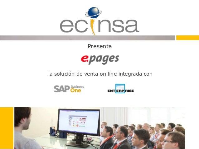 la solución de venta on line integrada con Presenta