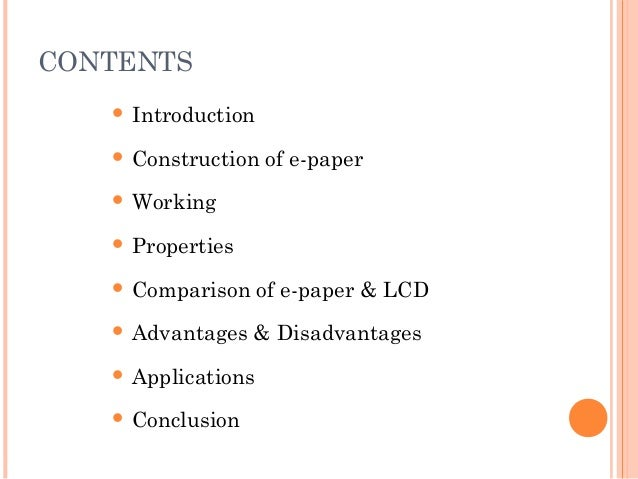 electronic paper technology ppt A new dimension of paper electronic paper pesquisar este site introduction liquavista is the only firm using electrowetting technology for paper-like.
