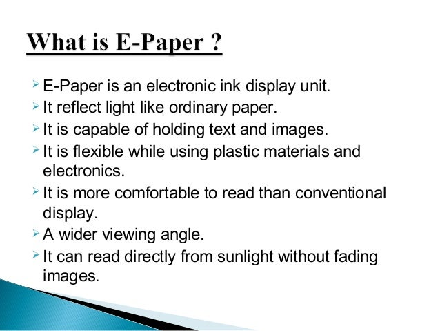 Top 10 e-paper technologies in the next 20 years
