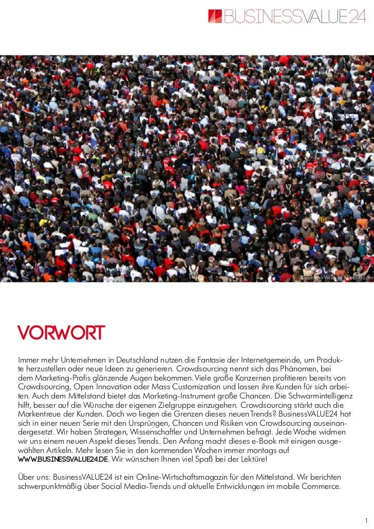 E paper crowdsourcing-finalCrowdsourcing - Themenspecial vom Online-Wirtschaftsmagazin BusinessVALUE24 Slide 2