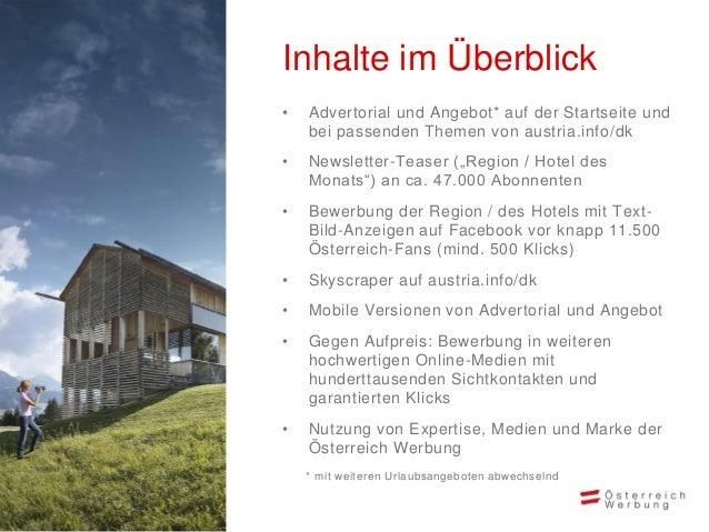 Darstellung Online-Bewerbung Bewerbung auf austria.info Optimiert für mobile Geräte Bewerbung auf Facebook mit Anzeigen Be...