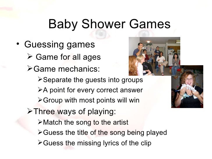 baby shower songs and games