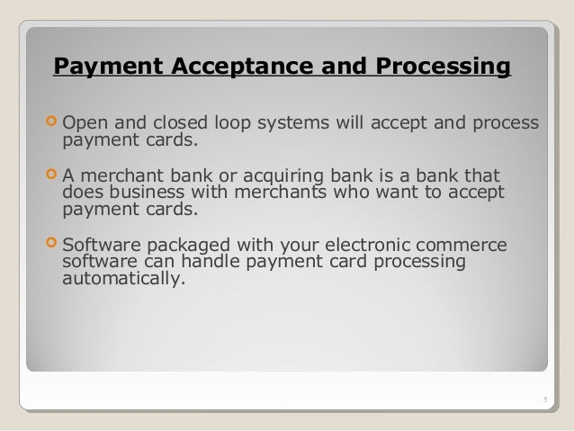 Electronic payment system for e-commerce