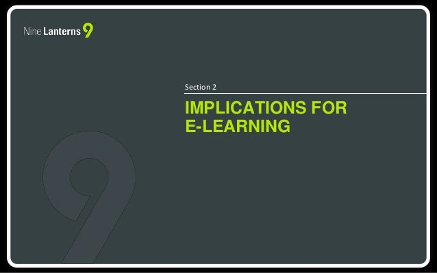 Section 2  IMPLICATIONS FOR  E-LEARNING