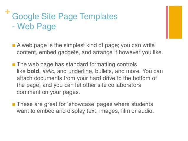 Eportfolios And Google Sites - Google pages templates