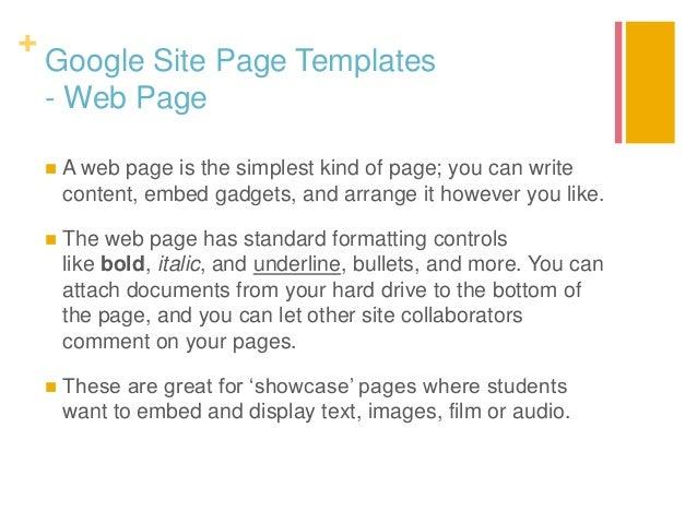 e portfolios and google sites