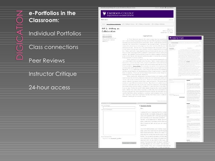 <ul><li>e-Portfolios in the Classroom: </li></ul><ul><li>Individual Portfolios </li></ul><ul><li>Class connections </li></...
