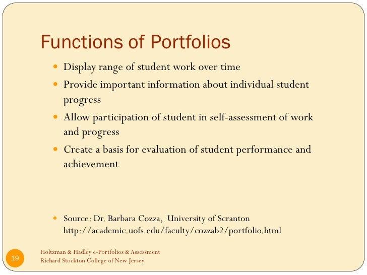 e portfolios and nursing student assessment The portfolio as a summative assessment for the nursing student  on the usefulness of portfolios for learning and assessment the e-portfolio has the potential to .