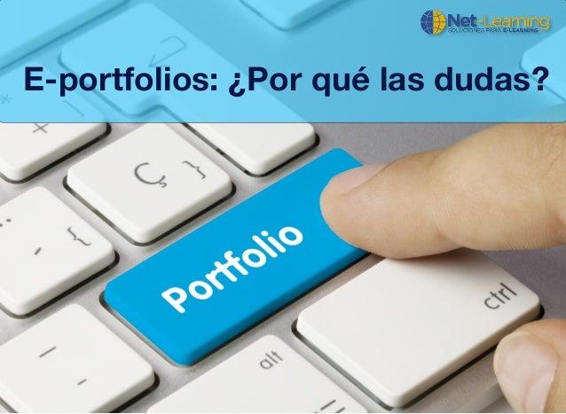 E-portfolios: ¿Por qué las dudas?